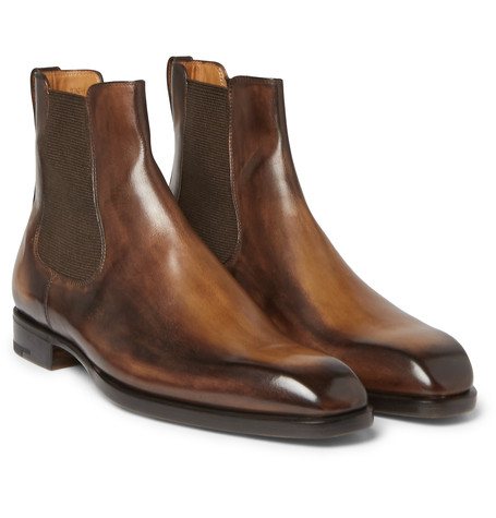 b8af62bcd7a Berluti - Polished-leather Chelsea Boots - Dark brown