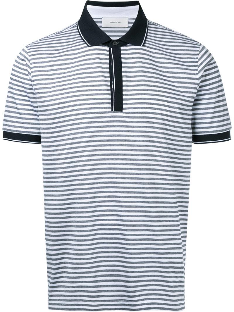 2251796e ... promo code cerruti 1881 striped polo shirt 2c605 9a4b7