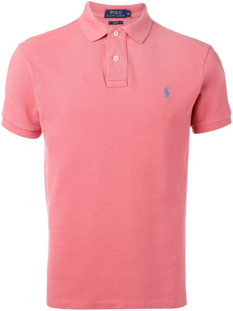 Polo Lauren Shirt Ralph Men Cotton Classic MPinkpurple I29WYDEH