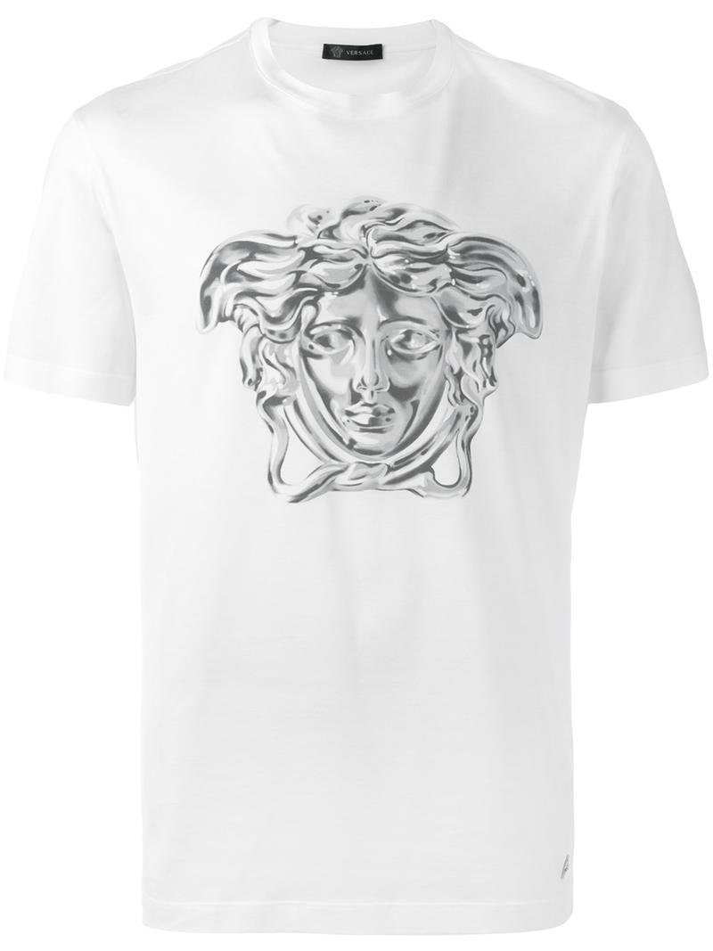 b2d9370d Versace - painted metallic Medusa T-shirt - men - Cotton - S, White ...