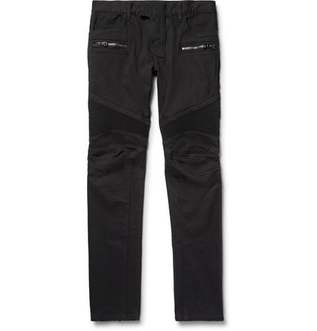 395fd759156d0b Balmain - Slim-fit Stretch-denim Biker Jeans - Black | SECRET PARISIEN
