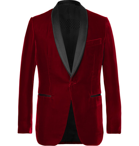bb661807da0 Berluti - Red Satin-trimmed Velvet Tuxedo Jacket - Red | SECRET PARISIEN
