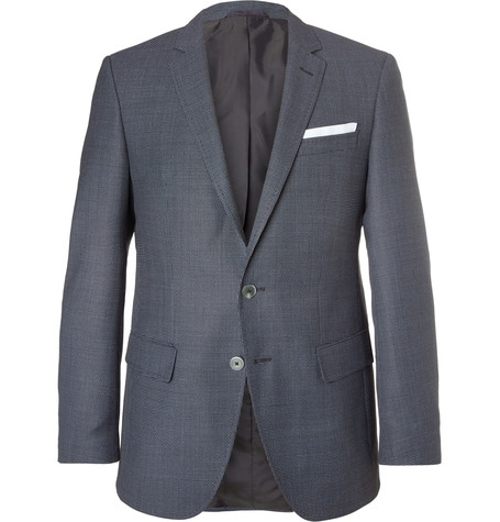 300c1d603 Hugo Boss - Blue Hutsons Slim-fit Virgin Wool Blazer - Navy | SECRET ...