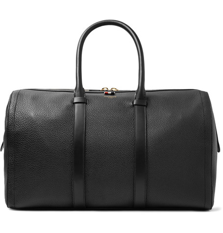 Thom Browne - Pebble-grain Leather Holdall - Black  f68cfd3072da0